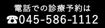 電話での診療予約は 045-586-1112