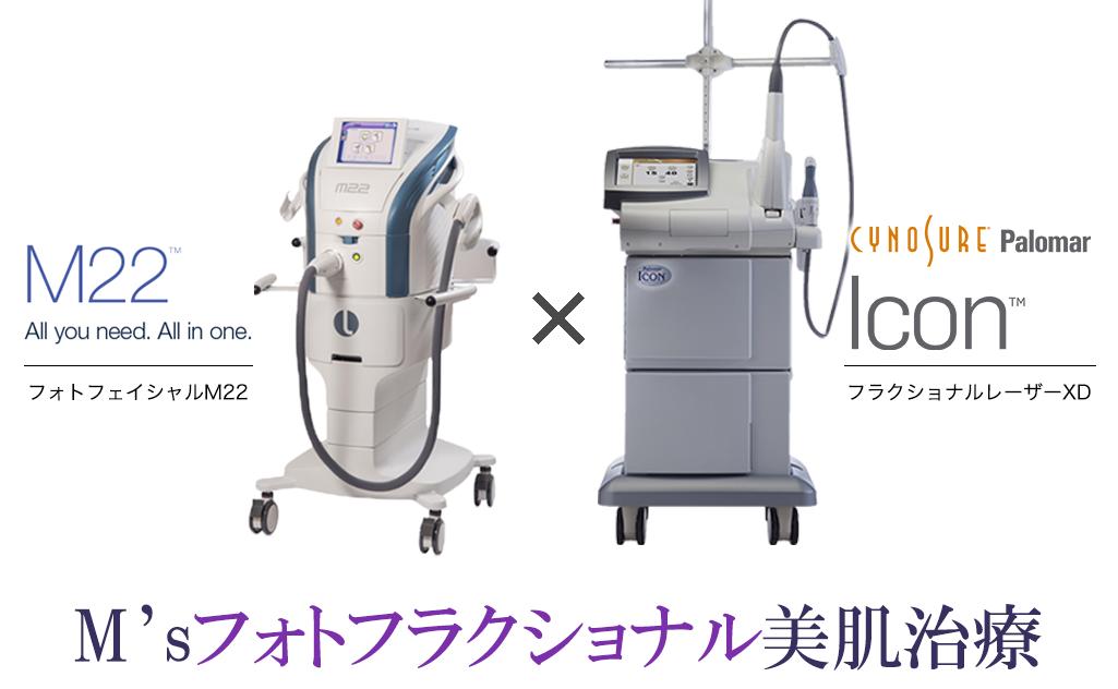 M'sフォトフラクショナル美肌治療イメージ
