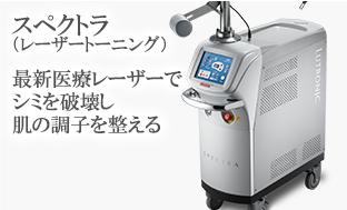 スペクトラ(シミ取りレーザー) 最新医療レーザーでシミを破壊し肌の調子を整える