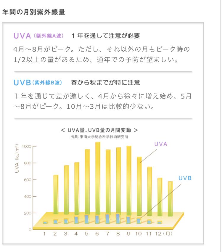 光老化/紫外線/UVカット/日焼け